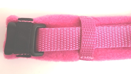 Cerise Pink eDog fleece harness fully fleece lined