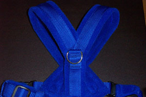 Royal Blue eDog fleece dog harness and D ring